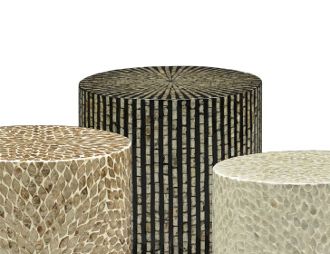 Stylish end tables available for rent